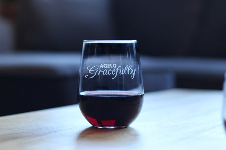 Image of A Glass Partially Filled with Red-wine