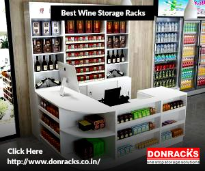 Group of Wine Bottles Stacked on Storage Racks in a Modern Design Wine Cellar.