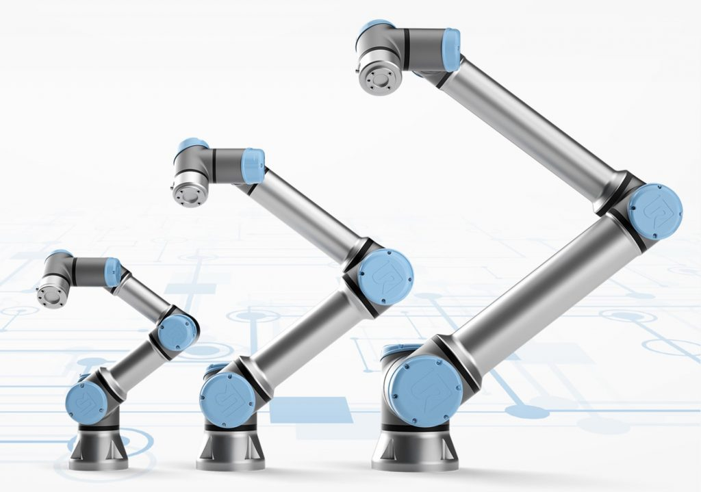 An image showing Collaborative Robots in different sizes