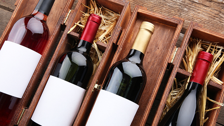 Image Showing A Close-up View of Wine Shelf