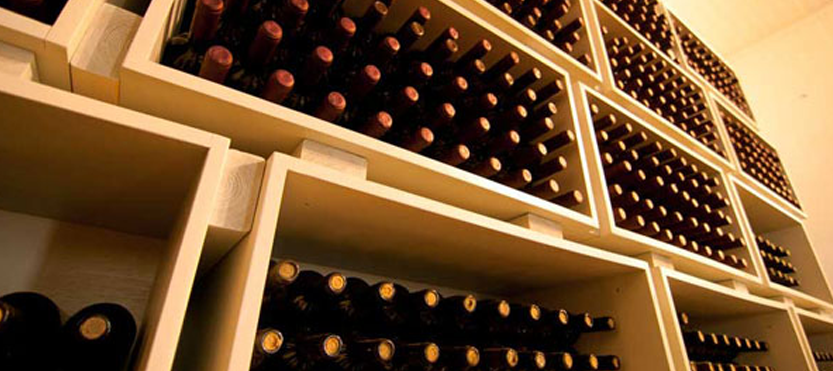 Image Showing A Side View of Wine Cellar